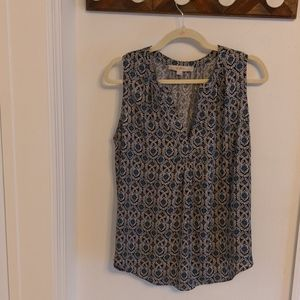 Loft sleeveless blouse large